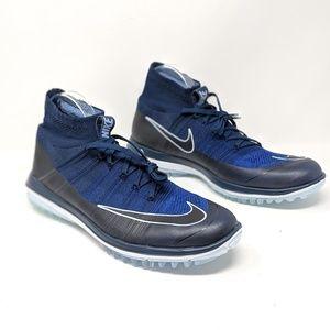 1959d4e05ddc1 NEW GOLF Nike Flyknit Elite Golf Shoes Black Blue